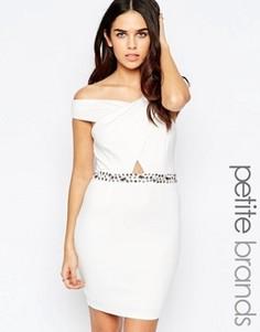 Платье с декорированной отделкой на талии Lipstick Boutique Petite - Белый