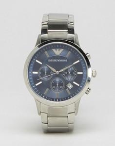 Часы с ремешком из нержавеющей стали Emporio Armani AR2448 - Серебряный