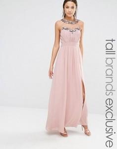 Платье макси Little Mistress Tall - Розовый