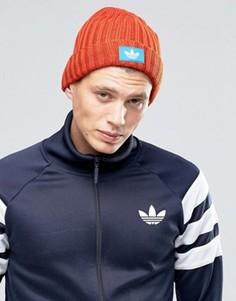 Оранжевая шапка‑бини adidas Originals AY9311 - Оранжевый