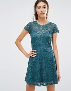 Кружевное платье мини Vero Moda - Зеленый
