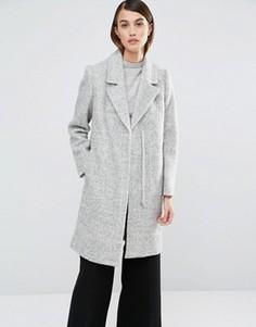 Приталенное пальто Selected Clara - Серый