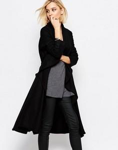 Черное шерстяное пальто Religion Freedom - Черный