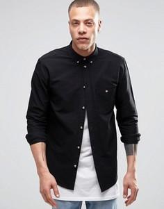 Черная оксфордская рубашка классического кроя Weekday Bad Times - Черный
