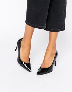 Лакированные туфли-лодочки на каблуке New Look - Черный