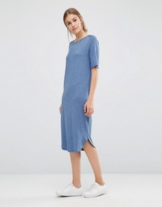 Длинное платье-футболка Just Female Gilli - Синий