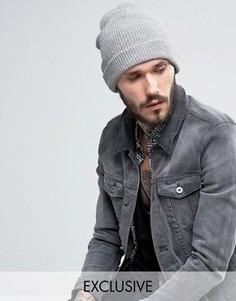 Серая свободная шапка-бини Reclaimed Vintage - Серый