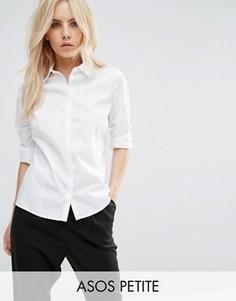 Белая приталенная рубашка ASOS PETITE - Белый