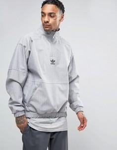 Серый свитшот с горловиной на молнии adidas Originals Paris Pack BK0529 - Серый