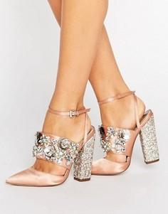 Туфли на каблуке с отделкой ASOS PAPAYA Bridal - Бежевый
