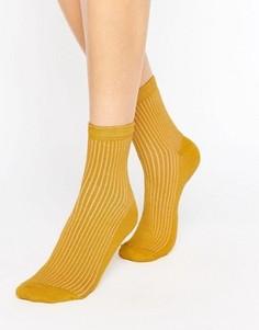 Носки в рубчик ASOS - Желтый