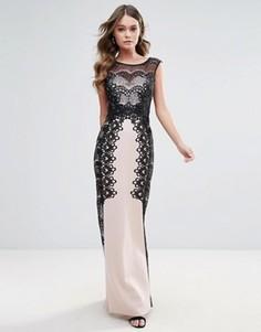 Платье макси с отделкой Lipsy - Розовый