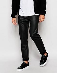 Черные суженные книзу джинсы слим с блестящим покрытием Lee Arvin - Черный