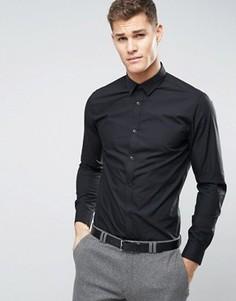 Черная строгая рубашка из поплина классического кроя New Look - Черный