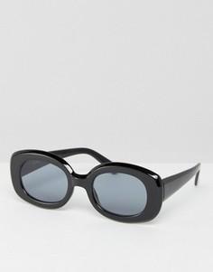 Квадратные солнцезащитные очки в стиле 90-х ASOS - Черный