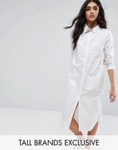Свободное платье-рубашка Daisy Street Tall - Белый