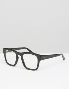 Квадратные очки с прозрачными стеклами Gucci - Черный