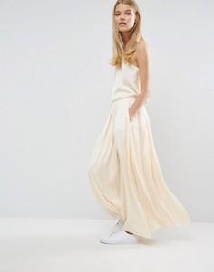 Длинная юбка Samsoe & Samsoe Nuit - Кремовый