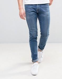 Светлые эластичные джинсы скинни Hollister - Синий