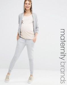 Леггинсы для беременных в стиле casual с манжетами Bluebelle Maternity - Серый