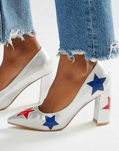 Туфли на каблуке с отделкой звездами Daisy Street - Мульти