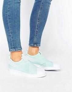Кроссовки-слипоны Adidas Superstar - Зеленый