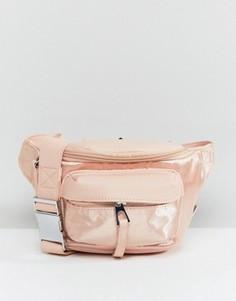 Атласная розовая сумка-пояс LAMODA - Розовый