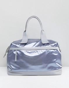 Серая атласная сумка LAMODA - Серый