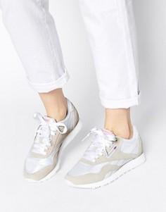 Классические бело‑серые кроссовки с нейлоновым верхом Reebok Classic - Белый