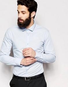 Поплиновая рубашка классического кроя с длинными рукавами New Look - Синий
