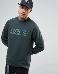 Зеленый свитер с круглым вырезом Nike SB Everett 800139-364 - Зеленый