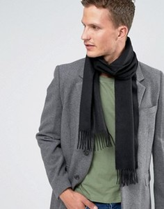 Черный кашемировый шарф Glen Lossie - Черный