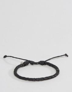 Черный плетеный браслет Classics 77 - Черный