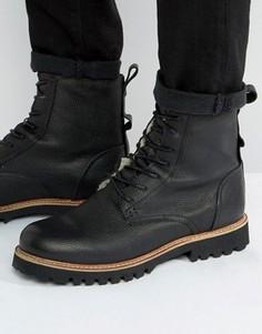 Теплые кожаные ботинки на шнуровке Shoe The Bear Walker - Черный