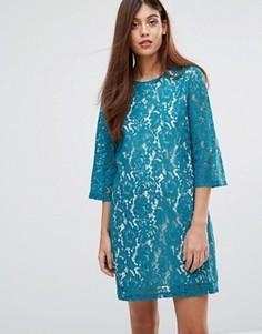Кружевное платье-туника Darling Ariana - Зеленый