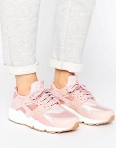 Розовые кроссовки Nike Air Huarache Run Premium - Розовый