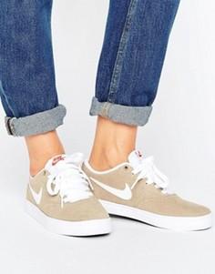 Коричневые кроссовки Nike SB Check Solar - Коричневый