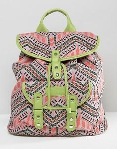 Парусиновый рюкзак с принтом South Beach - Мульти