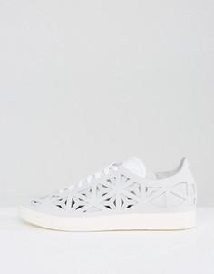 Белые кроссовки с вырезами adidas Originals Gazelle - Белый