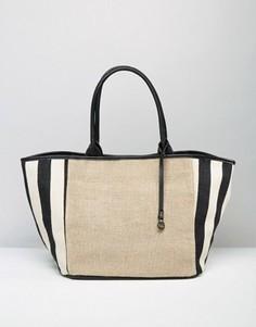 Пляжная сумка-тоут в полоску Nali - Мульти