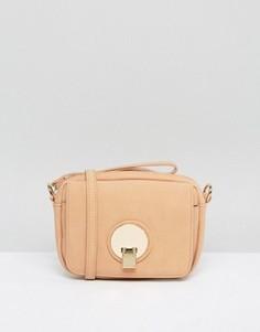 Маленькая сумка через плечо Pieces Lene Blush - Розовый