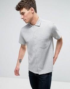 Серая рубашка классического кроя с вафельной текстурой Nicce London - Серый