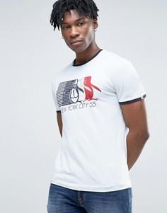 Узкая футболка с логотипом Original Penguin Ringer - Синий
