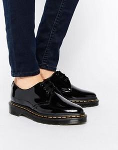 Остроносые туфли на плоской подошве с люверсами Dr Martens Dupree 3 - Черный