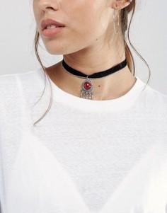 Ожерелье-чокер с цепочкой Pieces Maggie - Серебряный