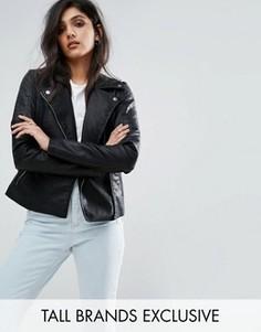 Куртка из полиуретана Noisy May Tall - Черный