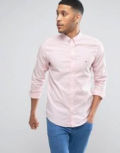 Розовая оксфордская рубашка слим Tommy Hilfiger - Розовый