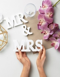 Буквы Mr & Mrs Sass & Belle - Мульти