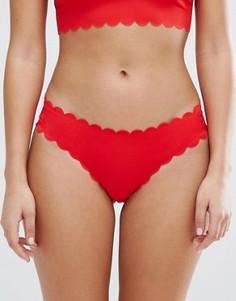 Плавки бикини с фигурной отделкой Missguided - Красный