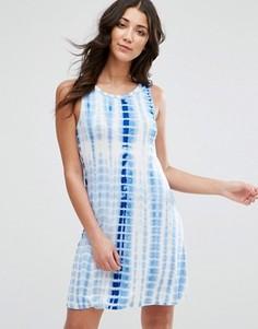 Платье-майка с принтом тай-дай Brave Soul - Синий
